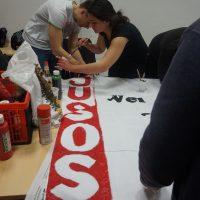 Banner malen für den 1. Mai