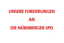 Unsere Forderungen an die Nürnberger SPD